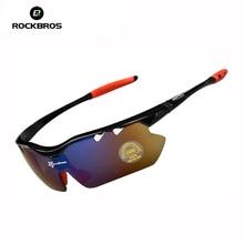 Hot! RockBros Polarized  Sun Glasses Outdoor Sports Bicycle Glasses Bike Sunglasses TR90 Goggles Eyewear 5 Lens #10013