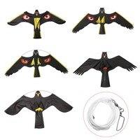 1 pcs Mayitr Zwarte Vogel Repeller Flying Hawk Kite Decoy Insect Ongediertebestrijding Voor Vogelverschrikker Yard Tuin