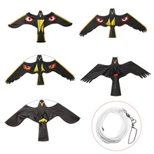 1pcs Mayitr Black Bird Repeller Flying Hawk Kite Decoy Insec