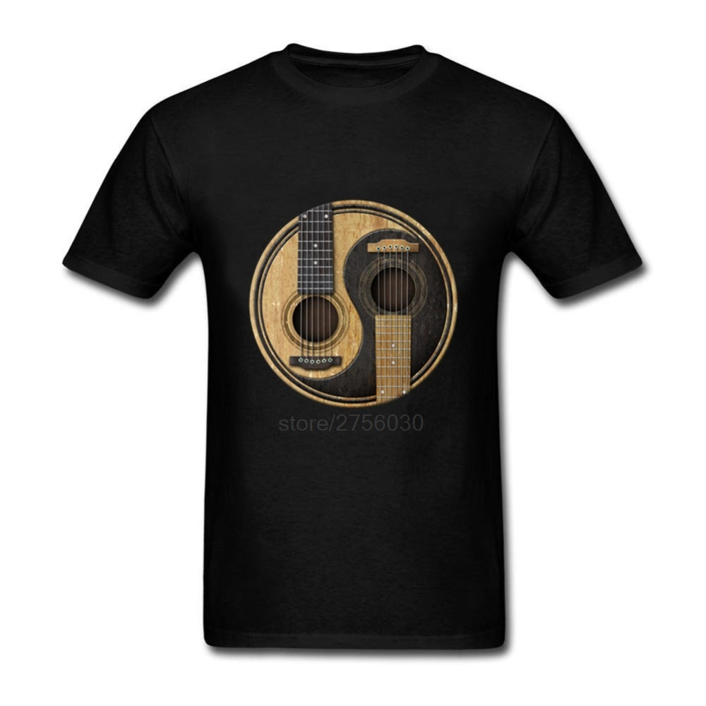 Twin peaks vespa tops unicorn kawaii crop top cropped Mens Fashion tee shirts Acoustic Guitars Yin Yang print t shirts men