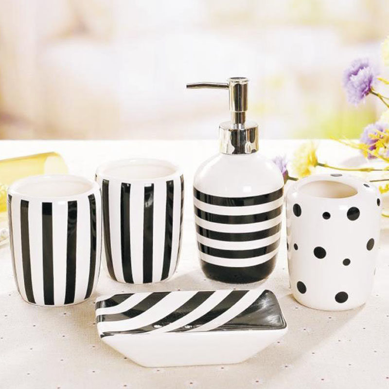Mug ceramic bathroom five-piece wash set brushing cup bathroom toiletries new house wedding gift LO86316 ceramic five piece set american bathroom supplies brushing cup bathroom mouthwash cup wash cup set lo7271146
