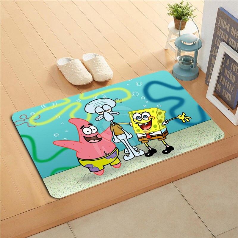 Good Pou0026p169 Custom Spongebob Doormat Home Decor Door Mat Floor Mat Bath Mats  Foot Pad T