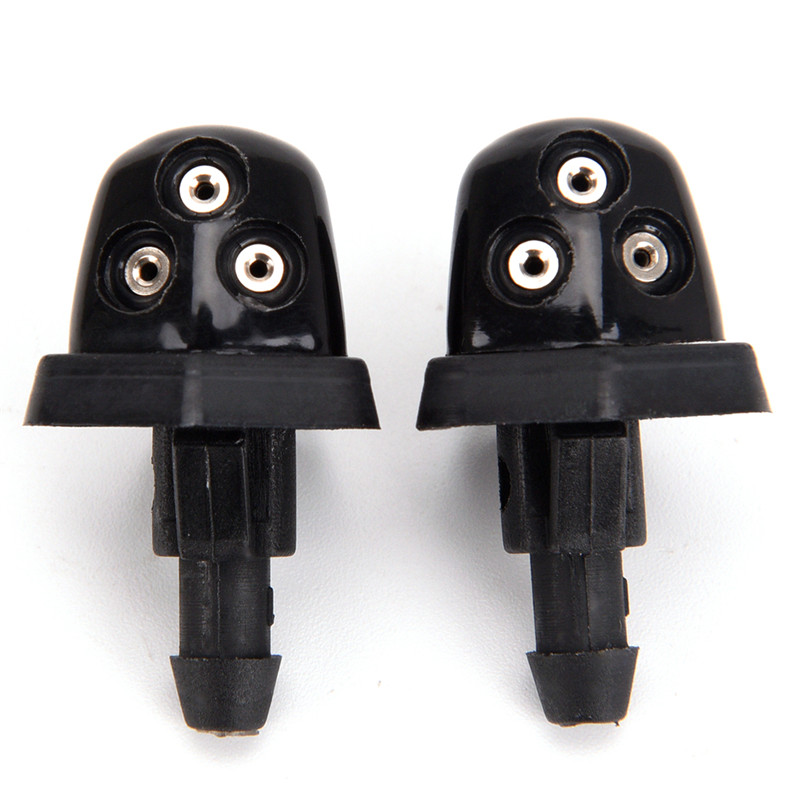 2Pcs Car Windshield Washer Wiper Water Jet Nozzle Inlet Push For Suzuki Swift Alto