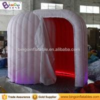 LED Купол надувные Photo Booth с красным цветом ткани внутри BG A0714 4 игрушка палатка