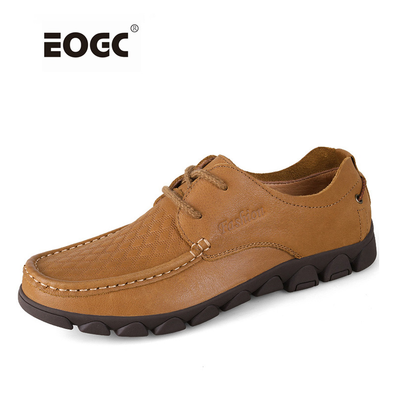Handmade 100% Genuine Leather Men Casual Shoes Plus Size Flats Shoes Waterproof Outdoor Shoes Men genuine leather men casual shoes plus size comfortable flats shoes fashion walking men shoes