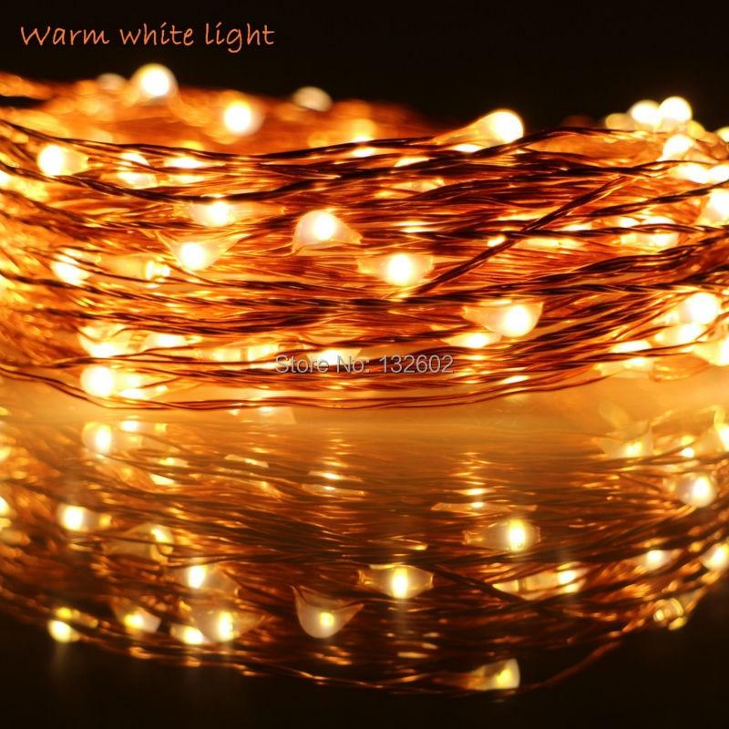 6m / 10m / 12m / 20m 5Modes 6AA Batteri Använd LED Stränglampor - Festlig belysning - Foto 1