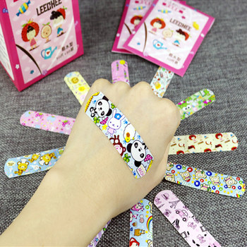 100pcs Cute Cartoon Waterproof Breathable Band Aid Hemostasis Adhesive Bandages First Aid Emergency Kit For Kids Children #601