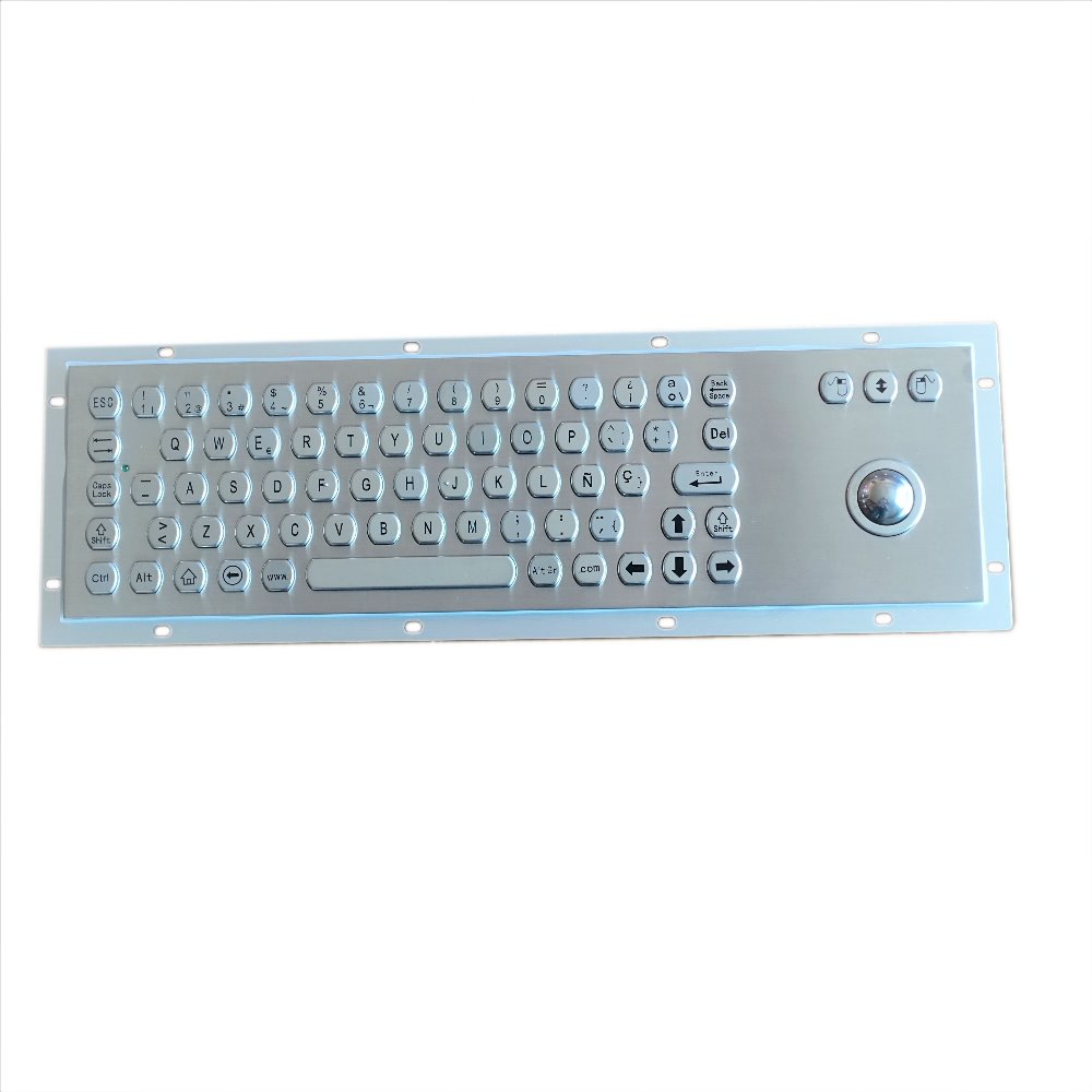 66 key buttons Hexagon keycap waterproof keyboard with optional touchpad or integrated 38mm 25mm stainless steel