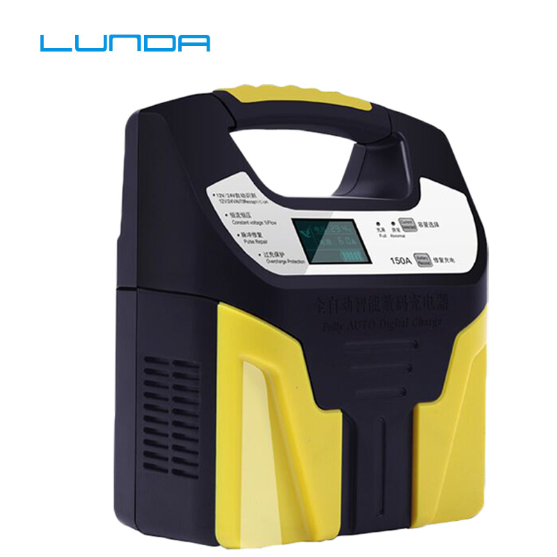 12v 24v Full Automatic Car Battery Charger 150Amp 220V Smart Charging For Lead-Acid Battery Charging Motorcycle Truck 10A 6A 3A