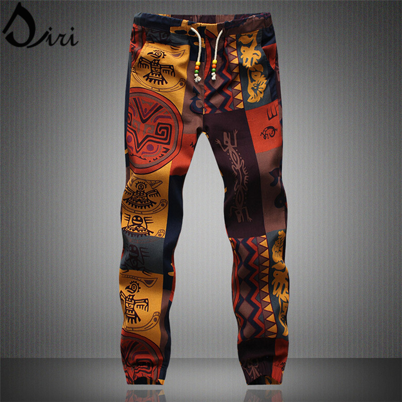 Hawaii beach pants Men Casual Drawstring Floral Joggers Indian Pattern Printed Dancing Dress Plus Size 4XL 5XL Sweatpants Women
