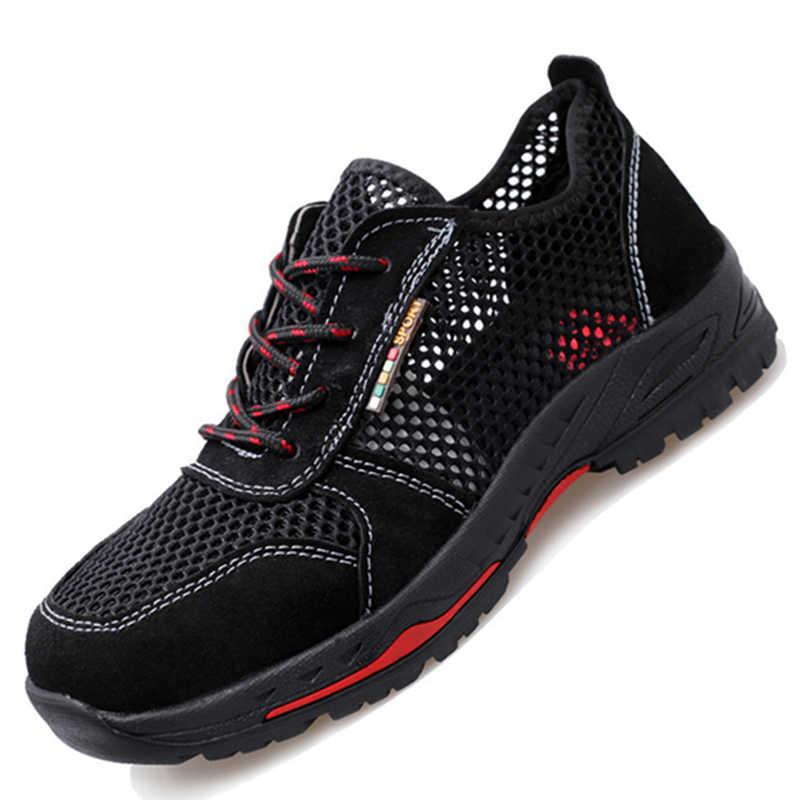 Защитные мужские ботинки; рабочие ботинки; модные кроссовки; Мужская обувь; безопасная обувь из стали; рабочие ботинки; мужская обувь