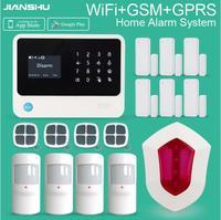 Funkalarmsystem GSM IOS/Android APP wifi Home Alarm Sicherheitssysteme + drahtlose alarmsirene für smart home sicherheit