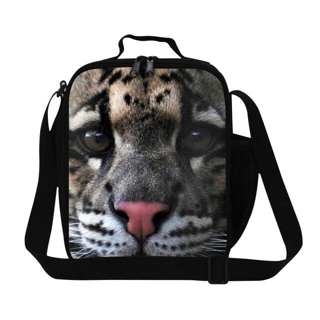 Детский Животных Обед Сумки Мешок Слинга Прохладный Leopard Дети Lunch Box Водонепроницаемый Изоляции Продовольственная Сумка Мужская Сумка Для рабочая