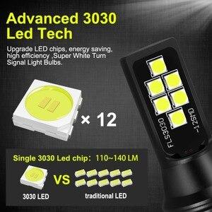 Image 2 - 2Pcs H7 หลอดไฟ LED Super Bright 1400lm 12 3030SMD รถหมอก 6000K สีขาวขับรถวันทำงาน auto DC 12V 24V