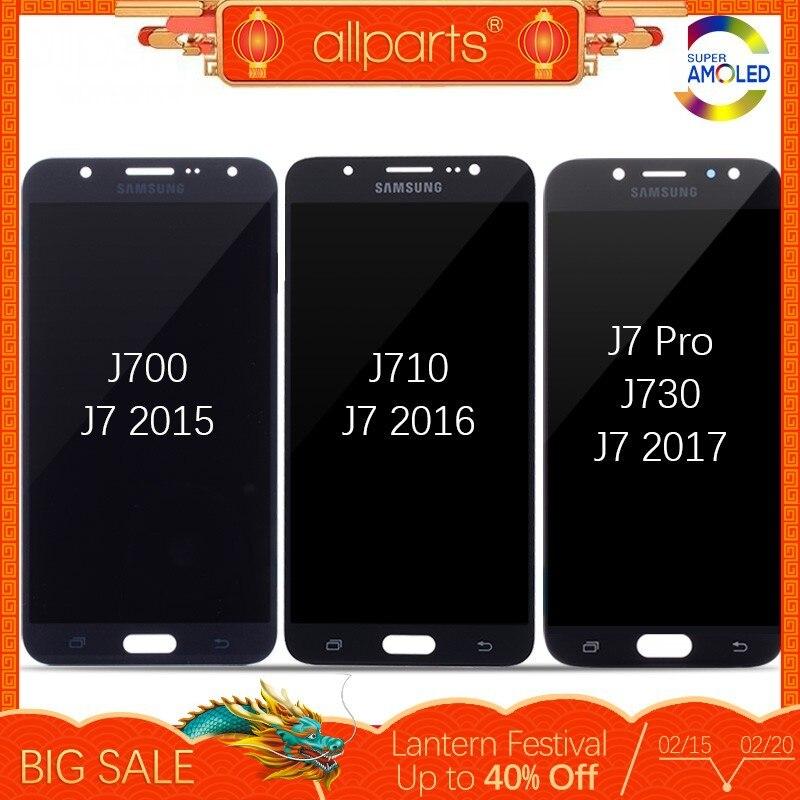 Оригинальный AMOLED для SAMSUNG Galaxy J7 2015 J700 / 2016 J710 / J7 Pro J730 дисплей Дисплеи в сборе с тачскрином самсунг замена запчасти