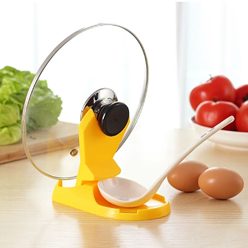 1pcs Multi Function Spoon Rack Lid Pot Holder Stand
