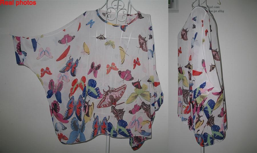 HTB1QdX8LXXXXXcdXFXXq6xXFXXXY - New Fashion Summer Women's Shirt Boho Style Batwing Casual