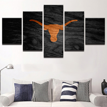 Modern Home Decor Rugby Basketball Canvas Pictures HD Print 5 Pieces Texas  Longhorns Sports Painting Living Room Wall Art PENGDA Part 74
