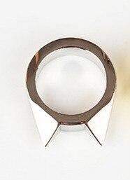 1 шт., женское и мужское безопасное кольцо для выживания, инструмент для самозащиты, кольцо из нержавеющей стали, кольцо для защиты пальцев, инструмент, серебро, золото, черный цвет - Цвет: Серебристый