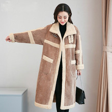 Cashmere Plush Velvet Coat Women Thick Warm Jacket Autumn Winter Long Windproof