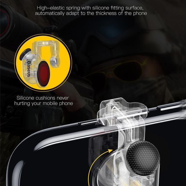 Baseus Gamepad Joystick For PUBG Joypad Trigger Fire Button Aim L1 R1 Key L1R1 Shooter Controller For PUBG Mobile Phone Game Pad 3