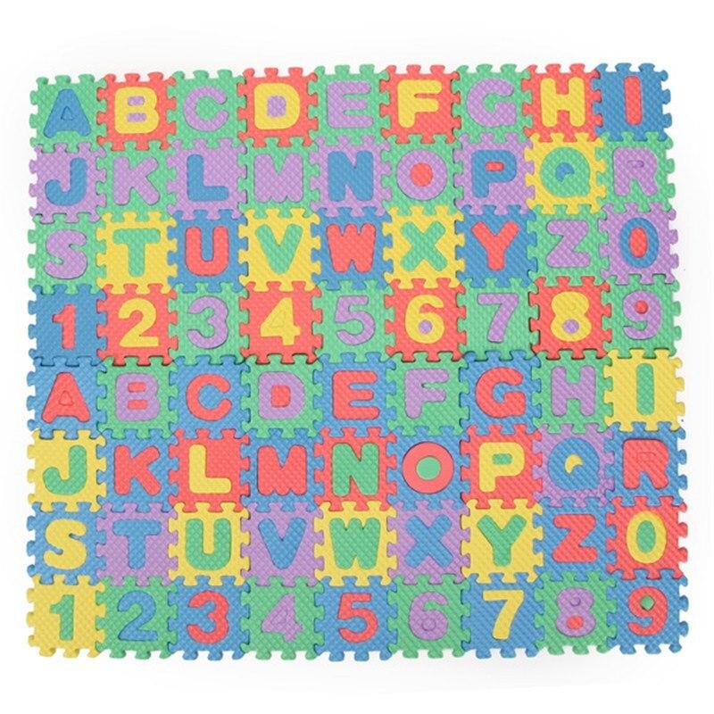 72pcs baby kids eva foam alphabet letters number mat 3d puzzles educational toys for childrens soft