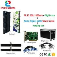 Oferta Pantalla de escenario de alquiler a todo Color P6.25mm panel de visualización LED 500x1000mm fundición a presión de aluminio LED vitrina de vídeo