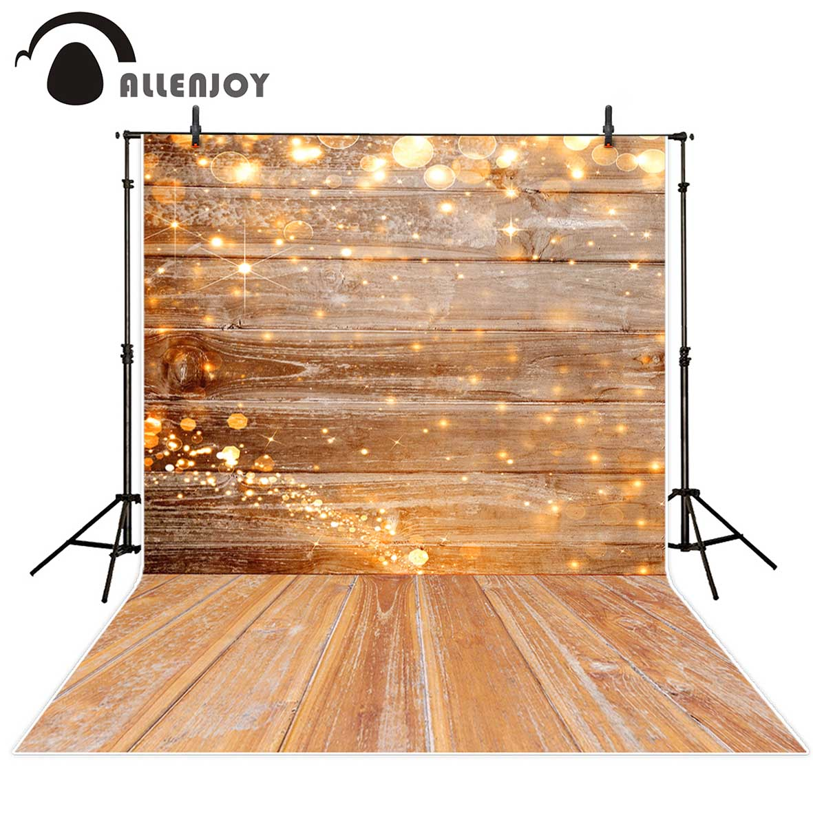 Allenjoy photography backdrop yellow halo wood christmas decor background photobooth photo studio decoration photo shoot christmas backdrop photography allenjoy snow cap winter snowflakes background photographic studio vinyl children s camera photo