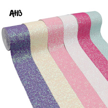 AHB Chunky Glitter Ribbon 75mm Sweet Color Ribbon Handmade Material For Bow Gift Wrapping Ribbon DIY Decorative Accessories 1Y 3 8cm solid color polyester ribbon gift bundle diy material handmade rose bunch ribbon