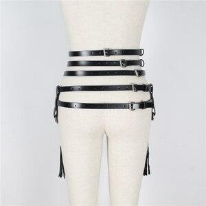 Image 5 - UYEE Creative Tassels Suspenders Leather Garter Belt Sexy Harness Body Bondage Skirts Prom Dress Bdsm Bondage For Women LP 026