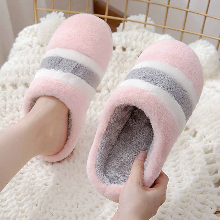 5b228df04 Winter Sliper Women Love Couple Warm Plush Women Large Size Man Home  Slippers Indoor Bedroom Non