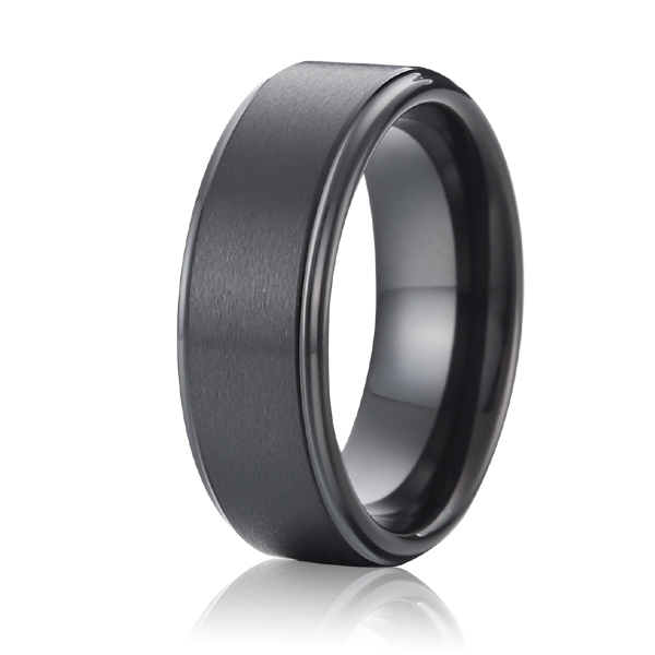 geninue tungsten ring black wedding band promise ring for ...