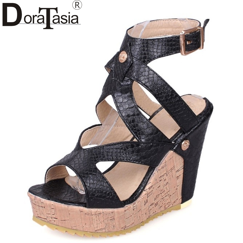 dating summer shoes 2016 fashion open toe cross strap ankle strap buckle sandals women roman style high heels wedges shoes elegant wedges open toe women sandals ankle buckle rivet shoe women cross tied women casual shoes rome hollowed out lady sandals