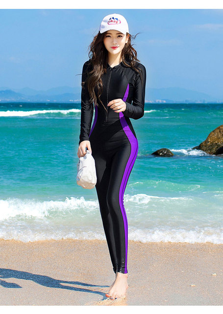 38e4213bf9eb5 Women Fashion Lycra Fabric Wetsuits One-piece Scuba Diving Swimsuit Plus  Size Surfing Womens surf clothes neoprene Swimming Suit