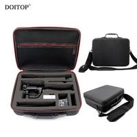 DOITOP Waterproof Shoulder Storage Box Hard Bag For Zhiyun Smooth Q Handheld Gimbal Stabilizer For GoPro