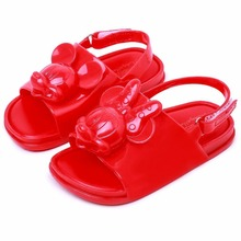 Melissa Twins Mickey Head 2019 New Summer 3D Shoes Jelly Shoe Sandals Girl Non-slip Kids Sandal Toddler
