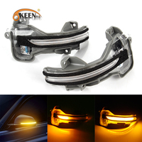 OKEEN 2pcs Car Rear View Side Mirror Turn Signal Light For Honda CRV/URV/City/GREIZ/JADE/VEZEL/ODYSSEY/AVANCIER Left/Right Lamp