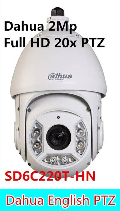 Dahua 2Mp Full HD 20x Network IR Dahua PTZ SD6C220T-HN IR Distance up to 100m,SD6C220T-HN,dahua ptz,free DHL shipping dahua 2mp full hd 20x network ptz dome camera ip67 vandalproof poe without logo sd60220t hn