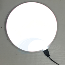 New Product 16.5cm Circle White EL backlight el panel el sheet el car plate lighting sticker free shipping