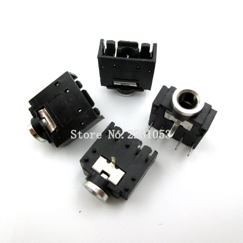 20PCS/LOT 3.5mm Stereo Jack Socket Audio Jack Connector PCB 5Pin 3F07