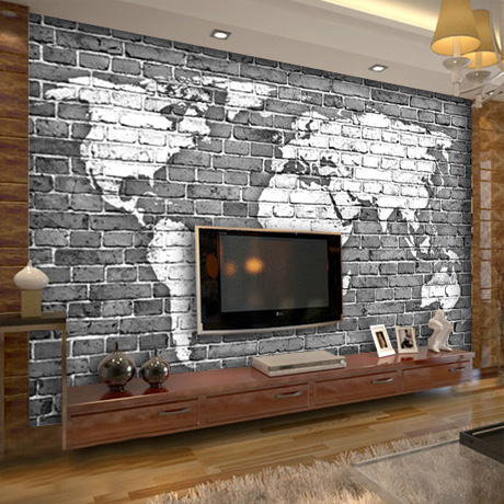 Grote custom mural 3d behang retro nostalgie gepersonaliseerde bar ...