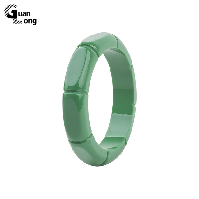 GuanLong Fashion Resin Carved Bamboo Pattern Bangle 2017 Collection Femme Bangle
