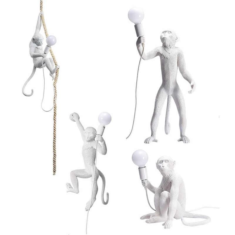 Скандинавский дизайнер обезьяна настольная лампа личности простой светильник для учебы промышленный ретро ветер художника настольная лампа