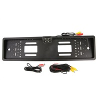 Auto Parktronic EU Car License Plate Frame Rear View Camera HD Night Vision Rear View Camera