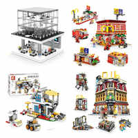 DHL SEMBO City Street SD6900 Apple Store SD6901 4in1 McDonaldss SD6970 3in1 house SD6991 night club Building Blocks Bricks Toys
