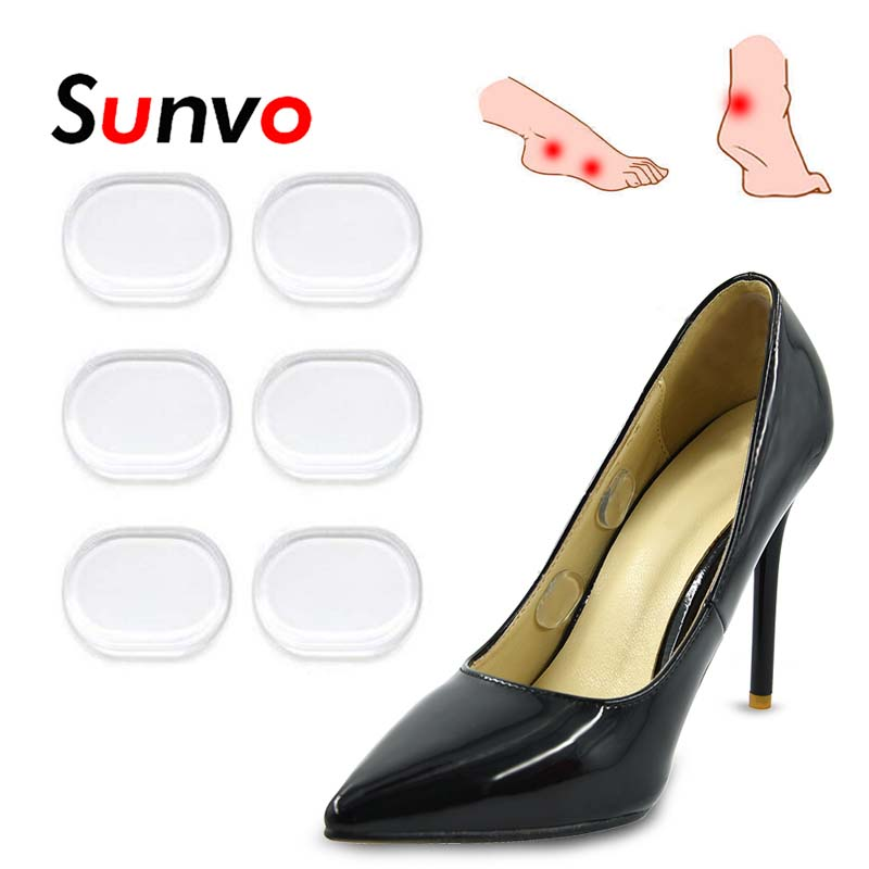 Sunvo 6 Pcs Soft Gel Silicone Heel Insoles Medical Plaster Patches For Blisters Friction Shoes Pads Pain Relief Patch Inserts