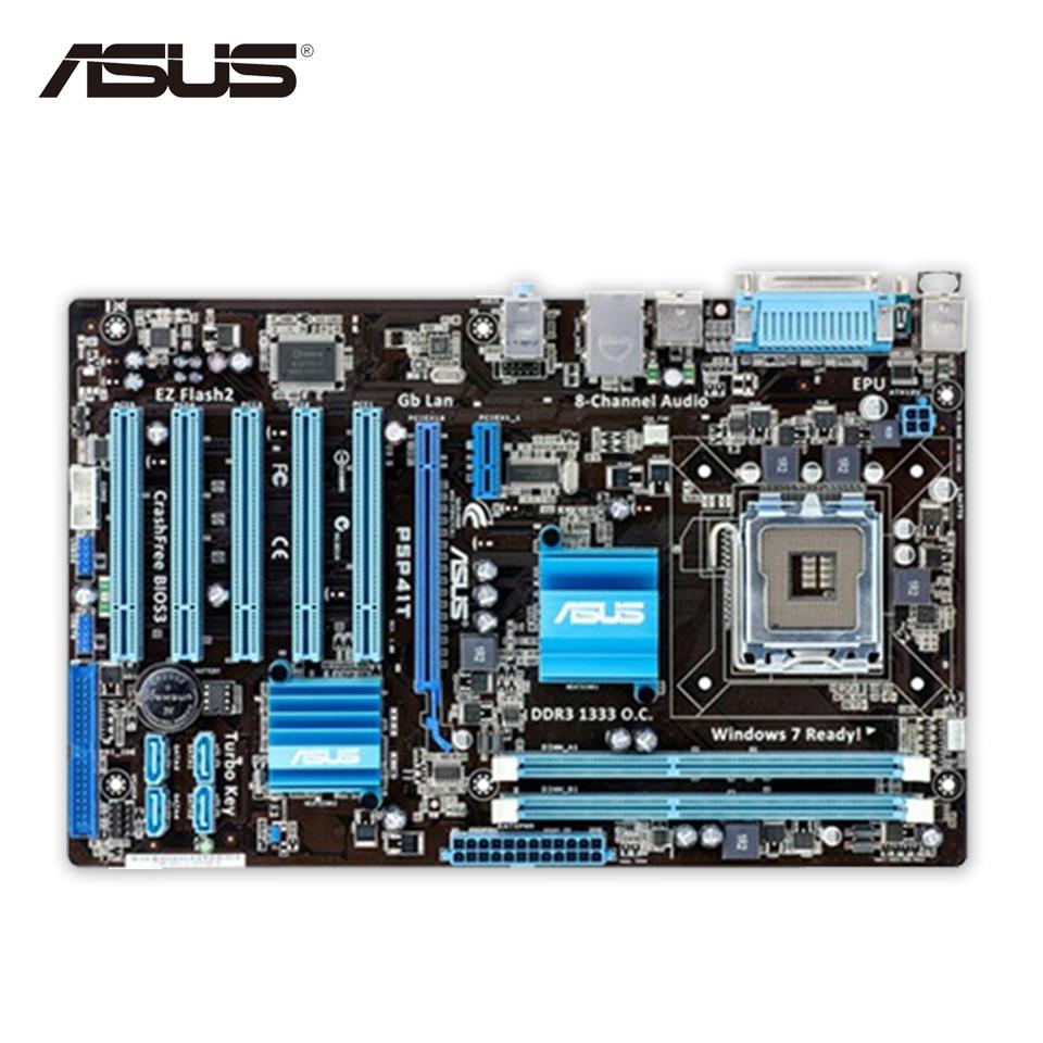 Asus P5P41T Original Used Desktop Motherboard G41 Socket LGA 775 DDR3 8G SATA2 USB2.0 ATX for asus p6td deluxe original used desktop motherboard for intel x58 socket lga 1366 for i7 ddr3 sata2 usb2 0 atx
