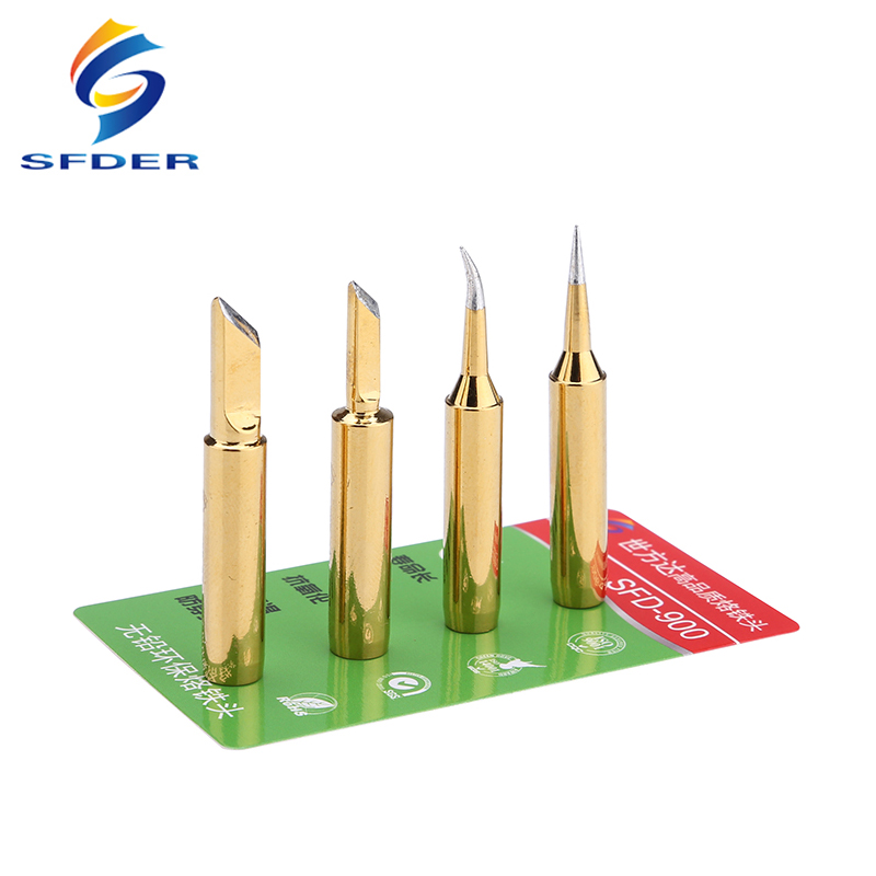 Lead-Free 900M-T Soldering Tip Soldeerpunt Welding Sting Electric Solder Iron Tips For 936 BGA Rework Station Soldering Tools