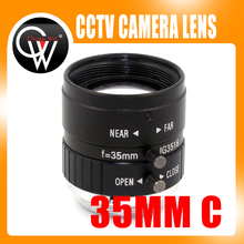 5MP 35mm F1.8 Manual Zoom Focus Iris C Mount Lens CCTV Lens for Microscopes CCTV Camera