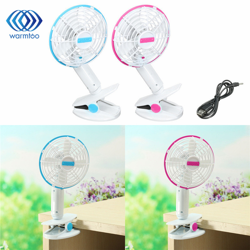 USB Portable Mini Clip On Fan For Baby Stroller Office Home Adjustable Summer